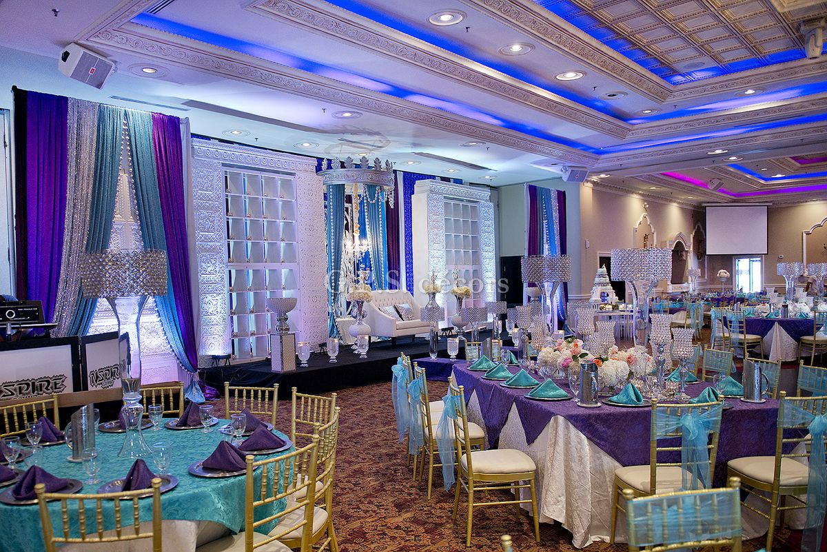 Purple Amp Turquoise Victorian Inspired Wedding Reception
